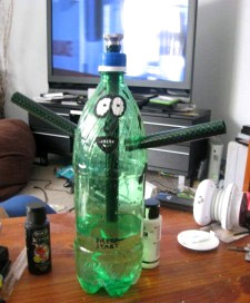 Bong Made out of a 2L Soda Bottle