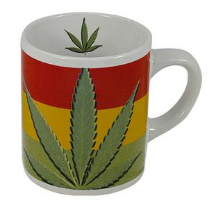 Coffee Mug with marijuana / cannabis leaf